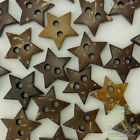 20100pcs Coconut Buttons Lot Brown Craftkids Sewing 9 Design U Pick Cards Diy