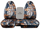 Cc Camo Tree Design Car Seat Covers 60-40 Highback Seat Fits 98-03 Ford Ranger