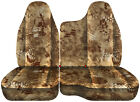98-03 Ford Ranger Tree Camo Car Seat Covers 6040 Split Bench Wmolded Hr 35