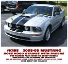 K195 2005-09 Ford Mustang - Boss Style Hood Stripes With Faders