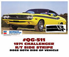 Qg-511 1971 Dodge Challenger - Rt Side Stripe With Rt Logo - Decal Kit