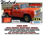 Qg-431 1976 Dodge Warlock Stripe And Decal Kit - Hood - Side Body - Tailgate
