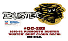 Qg-263 1970-1972 Plymouth Duster - Duster Cloud - Tail Panel Decal - One Decal