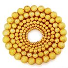 1000pcs Gold Plating Stardust Copper Ball Spacer Beads 3456810mm