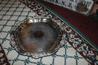 Vintage FB Rogers Silver Co  Victorian Serving Tray Platter 7734 Silver On Coper