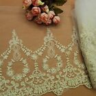 Vintage Lace Trims Tulle Floral Embroidered Trimming Fabric Embellishment Crafts