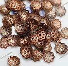 Wholesale 500pcs Silver Gold Plated Metal Flower Bead Caps 6mm Findings Making
