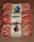 Lot Of 3 Skeins Of Bernat Satin Yarn 2.8 Oz In The Color Of Your Choice