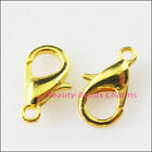 10pcs Lobster Clasps Connectors Gold Silver Bronze Copper Black Plated 9x16mm