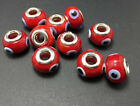 5pcs New Lampwork Murano Glass Beads Fit European Charm Bracelets Diy Findings