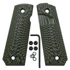 1911 Full Size G10 Grips Big Scoop Mag Release With Free Screws Coolhand H1-j6b
