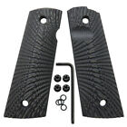 1911 Full Size G10 Gun Grips Magwell Cut Ambi Safety Sunburst Texture Coolhand