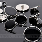 20pcs Black Silver Border Suit Buttons Sewing Craft Decoration 11 15 18 20 25mm