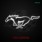 Mustang Horse Modern Emblem Vinyl Decal Sticker Ford Racing Banner 380