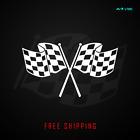Checkered Racing Flag Vinyl Decal Sticker Finish Line Jdm Race Flag 381