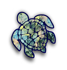 Sea Turtle Custom Printed Tie Dyed Patterns Car Truck Bumper Sticker Vinyl Decal