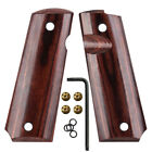 1911 Full Size Wood Grips W Screws Thumb Mag Release Ambi Safety Cut Cool Hand