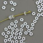 Tierracast Heishi Daisy Beads 3 Mm Spacer Beads Silver Plate 50more 1811