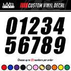 Racing Numbers Vinyl Decal Sticker Dirt Bike Plate Number Bmx Competition 498