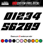 Racing Numbers Vinyl Decal Sticker Dirt Bike Plate Number Bmx Competition 502