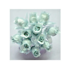 Poly Mini Rose Buds 72 Pc Lot With Leaves Wedding Bouquet Diy Crafts