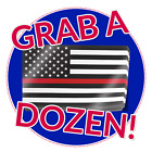 Thin Red Line American Flag Decals 12 Stickers Us Usa America Firefighter