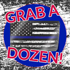 Thin Blue Line American Flag Decals 12 Distressed Stickers Us Usa Police Support