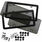 Zone Tech Smoked Clear License- Plate Cover Frame Shield Tinted Bubbled Flat Car