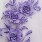 Diy 3d Flower Lace Embroidery Bridal Applique Pearl Beaded Tulle Wedding Dress