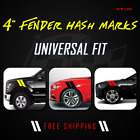 4 Fender Hash Stripes Marks Vinyl Decal Graphics Ford Dodge Corvette Racing