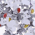 Magideal 50pcs 2-hole Cartoon Animal Buttons Wood Sewing Button For Scrapbooking