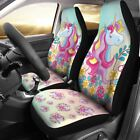 Unicorn Horse Girl Car Seat Cover Set Of 2