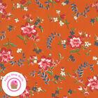 Moda Spring A Ling 21711 16 Orange Floral American Jane Quilt Fabric