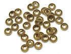 100pcs Silver Gold Daisy Pattern Spacers Beads Charms For Jewelry Diy 74mm
