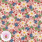 Moda Play All Day 21742 12 Red Floral American Jane Quilt Fabric 1930s Repro