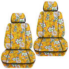 Front Car Seat Covers Hawaii Flower Pam Tree Blueredyellow...fits Vw Beetle
