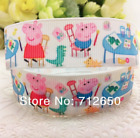 78 Peppa Pig Coloring Grosgrain Ribbon By Yard Combined Shipping - Us Seller