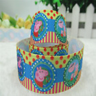 78 Peppa Pig Family Grosgrain Ribbon By Yard Combined Shipping - Us Seller