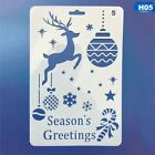 Christmas Layering Hollow Stencils Scrap Stamps Embossing Flower Template Hot