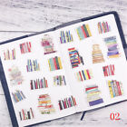 Creative Simulation Book Sticker Diy Notebook Stationery Diary Decor Stickers Hs