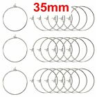 100 Silver Tone Wine Glass Charm Rings Round Earring Hoops 25mm-35mm Jewelry