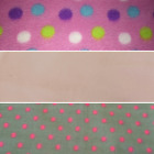 Polar Fleece Remnant Pieces For Clothing Crafting Scarves Hats Pink Blue