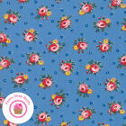 Moda Sweet Harmony 21752 17 Blue Pink Floral American Jane Quilt Fabric