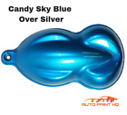 Candy Sky Blue Over Silver Basecoat Quart Car Vehicle Motorcycle Auto Paint Kit