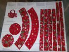 Christmas Stockings Mittens Holiday Panel Tree Skirt Fabric U-pick Read For Info