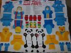 Animal Doll Cut N Sew Panel Pillow Cotton Quilt Fabric U-pick Read For Info