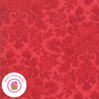 Moda Cinnaberry 44200 14 Red Floral Tonal 3 Sisters Quilt Fabric Christmas