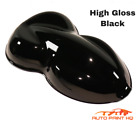 Jet Black Basecoat With Reducer Quart Basecoat Only Motorcycle Auto Paint Kit