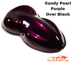 Candy Pearl Purple Over Black Basecoat Quart Car Vehicle Motorcycle Paint Kit