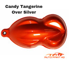 Candy Tangerine Orange Over Silver Basecoat Quart Car Motorcycle Auto Paint Kit